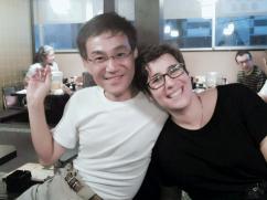 Yikinori Tagushi (secretario de Gendai Reiki Network) e Irene García